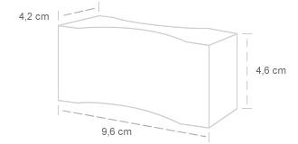 Grelha para Forno | Dimensões: 4,2 x 4,6 x 9,6 cm