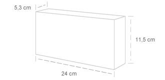 Tijolo Maciço | Dimensões: 5,3 x 11,5 x 24 cm